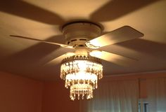 Chandelier ceiling fan light cover diy made with pvc pipe and how to make a chandelier fan mozeypictures Gallery