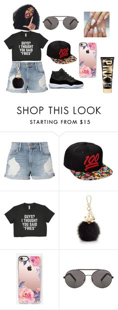 """""""summer"""" by baby-naja on Polyvore featuring Frame, Emoji, Furla, Casetify, Seafolly and Victoria's Secret"""