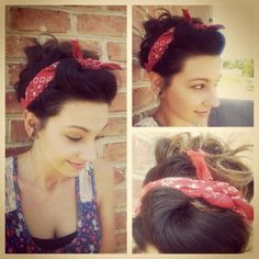 Pin-up hair by Shelby! @Kayla Moore