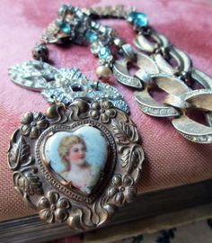 vintage assemblage necklace  ANABELLE  with by TheFrenchCircus, $225.00