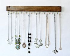 Wall Mount Jewelry Organizer, Necklace Holder with Mason Jar and Earring Display Jewely Organizer, Wall Mount Jewelry Organizer, Key Organizer, Jewelry Organization, Organiser Box, Closet Organization, Organizers, Necklace Holder, Jewelry Holder