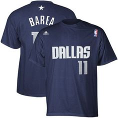 adidas Dallas Mavericks Jose Juan Barea Navy Blue Net Player T-shirt f18104d99