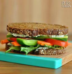 California Veggie Sandwich + Spinach Dip Spread