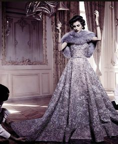Vogue Italia Alta Moda September 2014 Langley Fox Hemingway by Michel Comte - Elie Saab Haute Couture Fall 2014