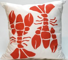 Lobster Modern Pillow