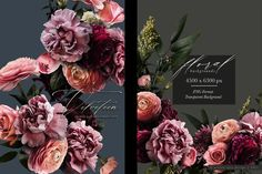 Velveteen Moody Floral Clip Art Graphics Collection – Avalon Rose Design Rose Design, Purple Carnations, Clip Art, Frozen In Time, Language Of Flowers, Types Of Flowers, White Flowers, In The Heights, Floral