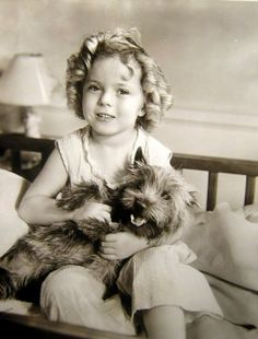 Little Shirley and puppy (looks an awful lot like Toto from The Wizard of Oz?) So cute!