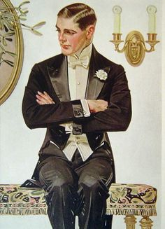 "Portraits by Joseph Christian Leyendecker ""Many biographers have speculated on J. Leyendecker's sexuality, often attributing the apparent homoerotic aesthetic of his work to a homosexual identity. American Illustration, Illustration Mode, Norman Rockwell, Art Quotidien, Jc Leyendecker, Illustrations Vintage, Fashion Illustrations, Rolf Armstrong, Retro Mode"