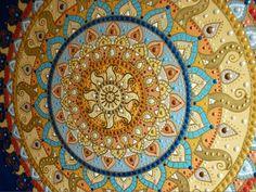 sárga-kék Napmandala részlet / yellow-blue Sunmandala detail