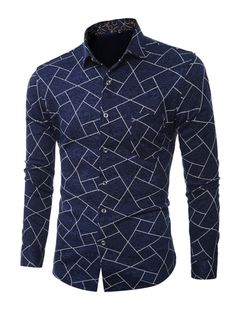 Tbdress.com offers high quality Lapel Patchwork Ethnic Linen Slim Printed Men's Shirt Men's Shirts unit price of $ 16.99.