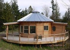 What is grain bin house? It's another anti-mainstream house design you must know! Here we provide the best ideas of grain bin house ideas. Silo House, Tiny House Cabin, Tiny House Living, Small Living, Yurt Pictures, Wooden Yurts, Yurt Kits, Tiny House France, Yurt Home