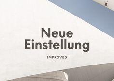 Best Einstellung Typeface