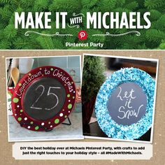 #MadeWithMichaels Pinterest Party DIY Chalkboard Charger project