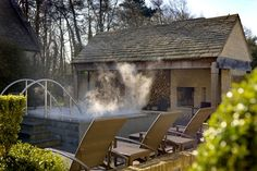 Enjoy a relaxing spa in the Cotswolds at the Calcot Manor Hotel and Spa. An award winning spa hotel in the Cotswolds near Tetbury, Gloucestershire Spa Weekend, Spa Day, Spa Breaks Uk, Cotswold Spa, Fresco, Cotswolds Hotels, Luxury Spa Hotels, Luxury Travel, Outdoor Spa