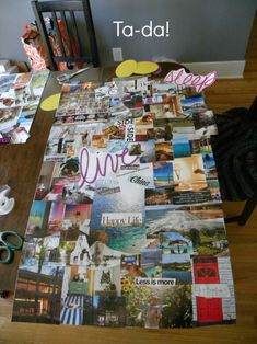 How to make a Vision Board // #visionboard #inspirationboard