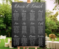 Wedding Seating chart  PRINTABLE  Chalkboard seating by redlinecs