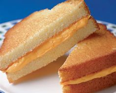 Grilled Cheese for April Fools' Day.  *pound cake and orange frosing