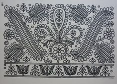 Hungarian Embroidery Patterns parna vintage linen and hemp: Hungarian Embroidery Kalotaszeg Hungarian Embroidery, Folk Embroidery, Learn Embroidery, Chain Stitch Embroidery, Embroidery Stitches, Embroidery Patterns, Stitch Head, Embroidery Techniques, Craft Patterns