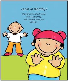 ver of dichtbij Learn Dutch, Prepositions, English Lessons, Pre School, Mathematics, Winnie The Pooh, Vocabulary, Teaching, Education