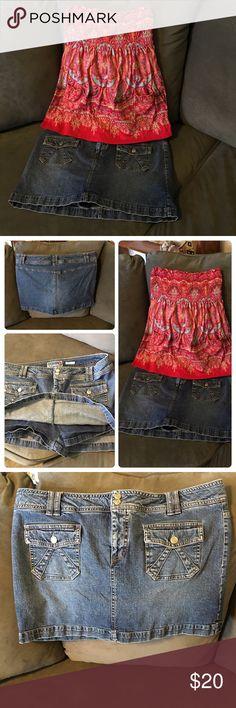 Selling this Stretch denim skort size 14, Old Navy in my Poshmark closet! My username is: lsmouz. #shopmycloset #poshmark #fashion #shopping #style #forsale #Old Navy #Pants