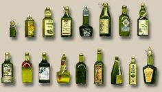 Miniature Olive Oil Bottles by Silvia Bolchi