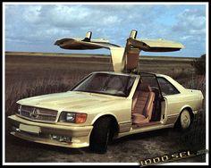 Mercedes Benz Gullwing by Styling Garage Mercedes W126, Porsche 911 964, Motors, Garage, Classic, Style, Carport Garage, Derby, Swag