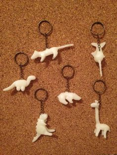 These keychains glow in the dark. Click to see how you can make one too!