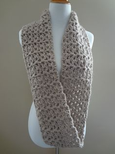 crochet scarf patterns | ... in Stitching: Free Crochet Pattern...Pavement Infinity Scarf