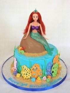 Little mermaid birthday cake, Mermaid birthday cakes and Little mermaid birthday on Pinterest