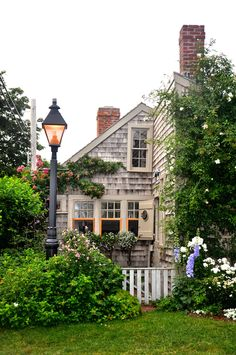 Nantucket - by Eliza Mineaux sweet shingle style cottage and lovely garden.