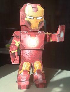 Homem de Ferro 3D para Recortar e Montar!