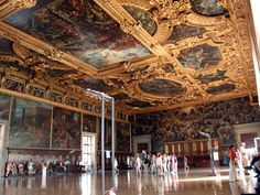 The sumptuously decorated Chamber of the Great Council in Venice's Doge's Palace.