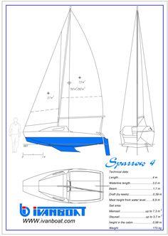 Sailing Yachts, Sailing Boat, Cool Boats, Small Boats, Dinghy, Sailboat, Plywood, Drawings, Simple