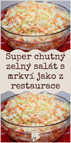 Super chutný zelný salát s mrkví jako z restaurace #salát Easy Casserole Recipes, Easy Dinner Recipes, Breakfast Recipes, Easy Meals, Healthy Chicken Recipes, Crockpot Recipes, Vegetarian Recipes, Cooking Recipes, Slovak Recipes