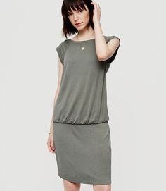 Primary Image of Lou & Grey Signaturesoft Blouson Tee Dress