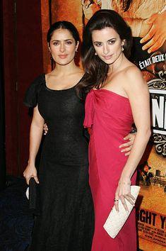 Salma Hayek and Penelope Cruz during 'Bandidas' Paris Premiere in Paris France
