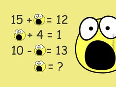 Brain teaser - Number And Math Puzzle - Skocked puzzle - Which number does the shocked face represent for the equations to be correct?