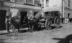 Las Primorosas: Pulquería en la Merced. Ciudad de México 1900. En la imagen la entrega matutina del pulque.