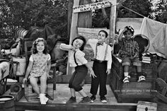 The most adorable themed photoshoot ever! Little Rascals. :)