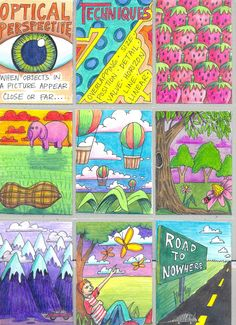 The Lost Sock : Visual Perspective ATC (art trading cards) Cool way to do EoA PoD Art Room Posters, 8th Grade Art, Art Trading Cards, Art Worksheets, Perspective Art, Art Curriculum, School Art Projects, Wow Art, Middle School Art