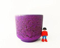 Retro rare Silberdistel purple planter Mid. by Retromania1331