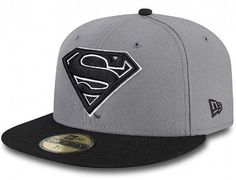 Grey Character Superman 59Fifty Fitted Cap by NEW ERA x DC COMICS