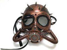 Latex Costume Prop NEW UNUSED SteamPunk Cosplay CyberPunk Laboratory Gas Mask