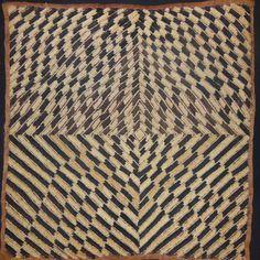 African Tribal Kuba Cloth Cut Pile And Raffia by EthosEthnicArt