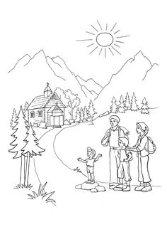 Country Scenes Coloring Pages Sunday School Ministry Journaling Bible Colouring Biblia Caro Diario