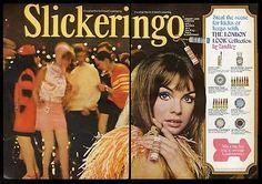 1967 Jean Shrimpton color photo Yardley lipstick makeup COOL vintage print ad