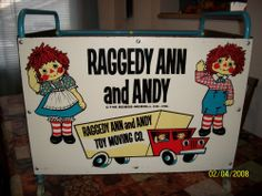 Raggedy Ann and Andy Toy Box on rollers