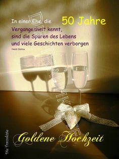 Spruchklappkarte mit Briefumschlag  im Din A5 Format in Schutzfolie!  Diese Karte zur Goldenen Hochzeit ist ein individueller und besonderer Glückwunsch.   Den Spruch der Karte habe ich ...