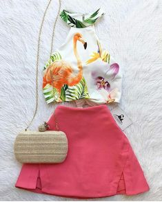 Casual Skirt Outfits, Cute Summer Outfits, Outfits For Teens, Girl Outfits, Cute Outfits, Fashion Outfits, White Bralette Top, Teen Fashion, Womens Fashion