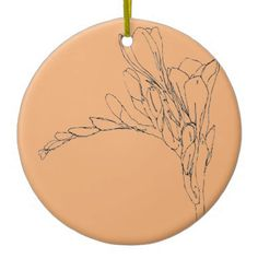 freesia in pale orange ceramic ornament - drawing sketch design graphic draw personalize Ornament Drawing, Pale Orange, Sketch Design, Home Gifts, Drawing Sketches, Diy Design, Artists, Graphic Design, Unique
